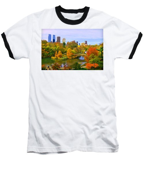 Autumn In Central Park 4 Baseball T-Shirt