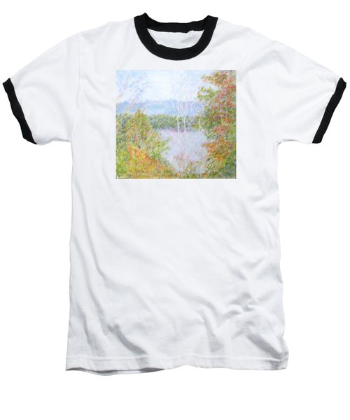 Autumn By The Lake In New Hampshire Baseball T-Shirt