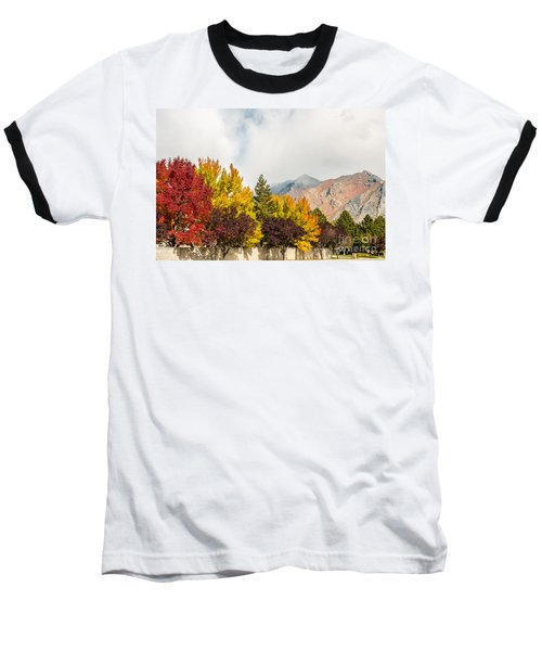 Autumn In The City Baseball T-Shirt by Sue Smith
