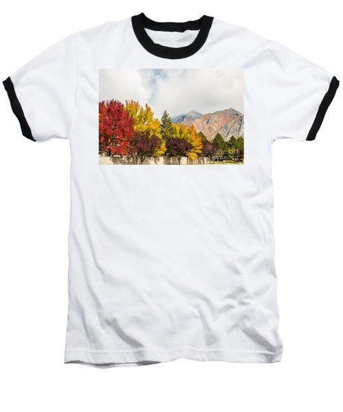 Autumn In The City Baseball T-Shirt