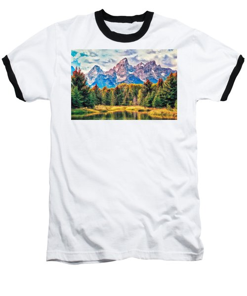 Autumn In The Tetons Baseball T-Shirt by Dominic Piperata