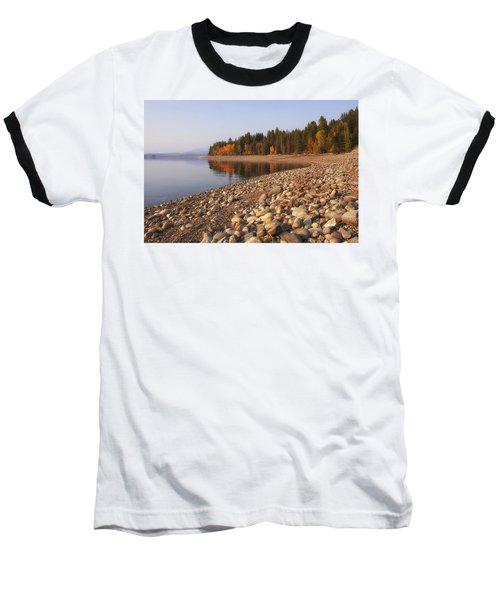 Baseball T-Shirt featuring the photograph Autumn Lake by Andrew Soundarajan