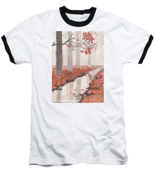 Autumn Leaves Baseball T-Shirt by David Jackson