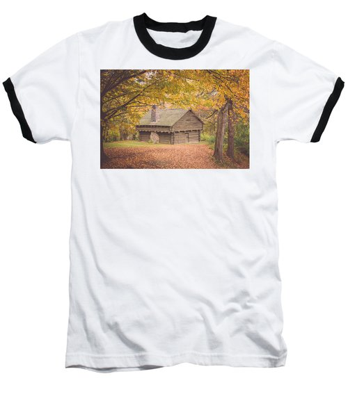 Autumn Retreat Baseball T-Shirt by Sara Frank