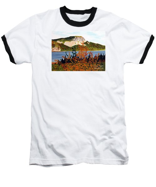 Baseball T-Shirt featuring the painting Autumn Sunset On The Hills by Barbara Griffin