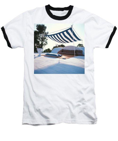 Awning At The Vacation Home Of Gaston Berthelot Baseball T-Shirt