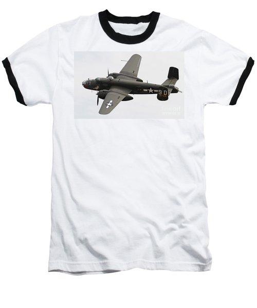 B-25 Mitchell Bomber Aircraft Baseball T-Shirt