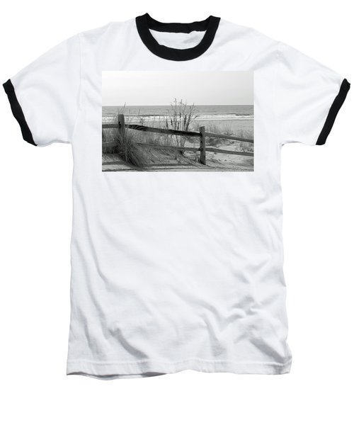 B And W Beach Baseball T-Shirt