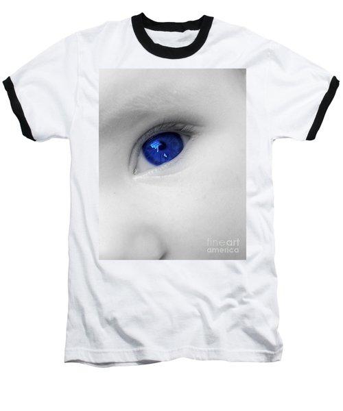 Baby Blue Baseball T-Shirt by Nina Ficur Feenan