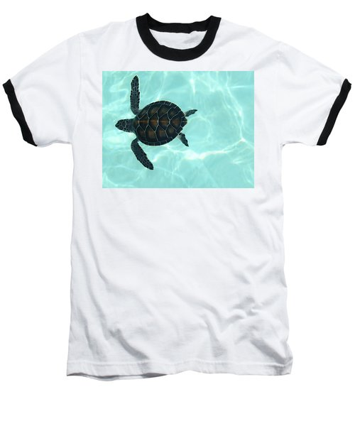 Baby Sea Turtle Baseball T-Shirt