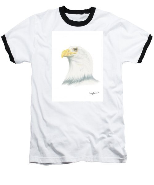 Baseball T-Shirt featuring the drawing Bald Eagle by Terry Frederick