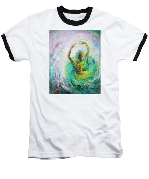 Baseball T-Shirt featuring the painting Ballerina by Xueling Zou