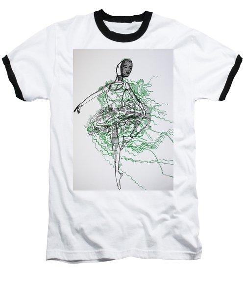 Ballet Baseball T-Shirt by Gloria Ssali