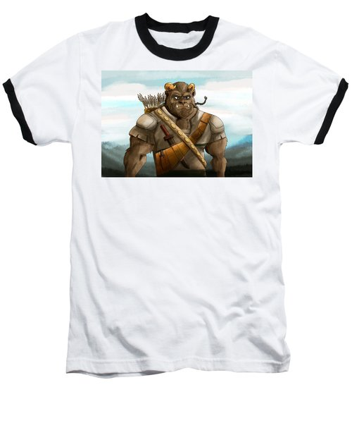 Baseball T-Shirt featuring the painting Baragh The Hoargg Warrior by Reynold Jay