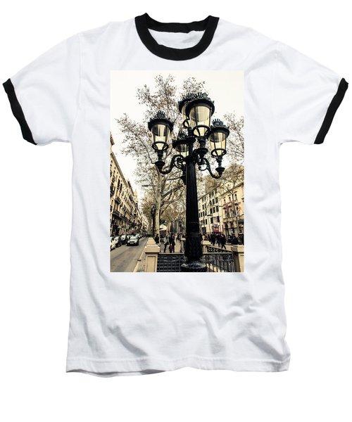 Barcelona - La Rambla Baseball T-Shirt