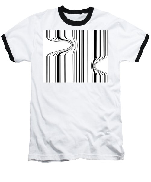 Baseball T-Shirt featuring the painting Barcode  C2014 by Paul Ashby