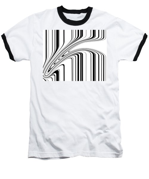 Baseball T-Shirt featuring the painting Barcode II  C2014 by Paul Ashby