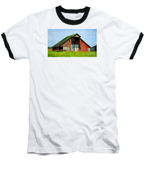 Barn - Central Illinois - Luther Fine Art Baseball T-Shirt