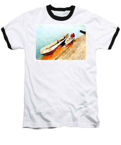 Barques Sur Le Chari Baseball T-Shirt