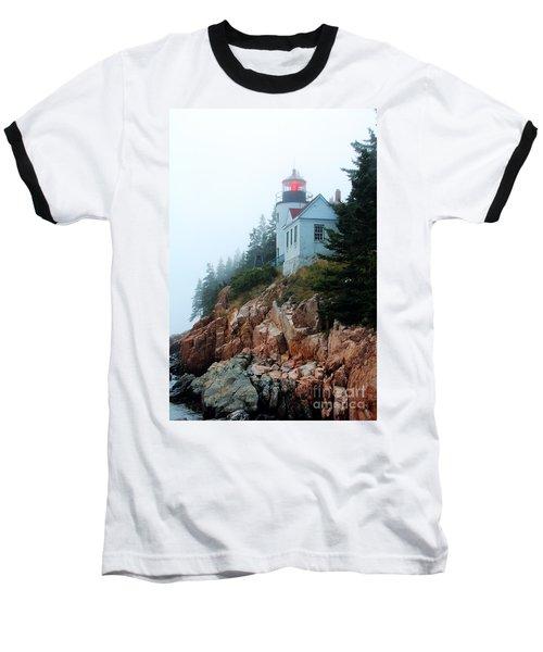 Bass Harbor Head Lighthouse Baseball T-Shirt