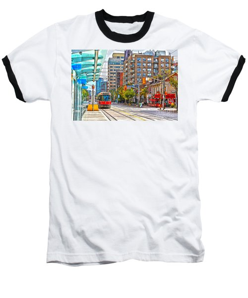 Bathurst Street Car Coming North To Queen Street Baseball T-Shirt by Nina Silver