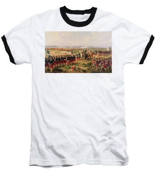 Battle Of Fontenoy, 11 May 1745 The French And Allies Confronting Each Other Baseball T-Shirt