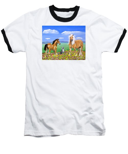 Bay Colt Golden Palomino And Pal Baseball T-Shirt