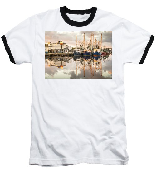 Bayou La Batre' Al Shrimp Boat Reflections 40 Baseball T-Shirt