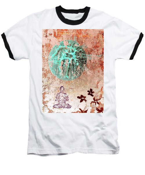 Baseball T-Shirt featuring the painting Be The Buddha by Jacqueline McReynolds