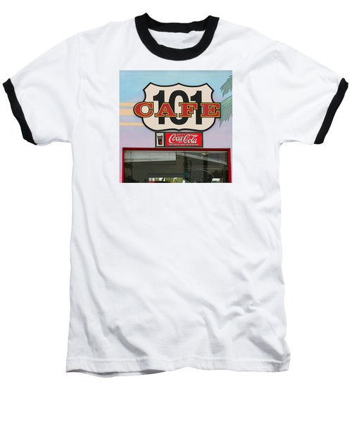 Beach Cafe Baseball T-Shirt by Art Block Collections