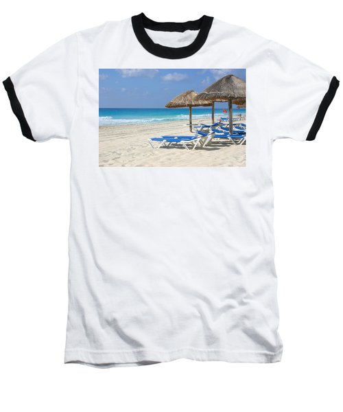 Beach Chairs In Cancun Baseball T-Shirt