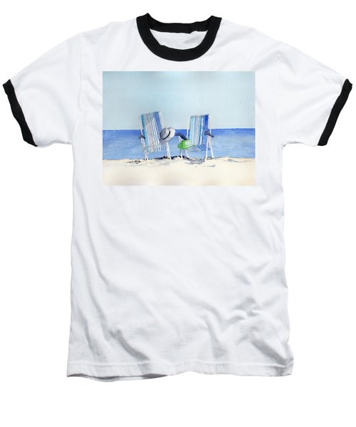Beach Chairs Baseball T-Shirt