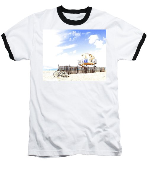 Beach Cruiser Baseball T-Shirt by Margie Amberge