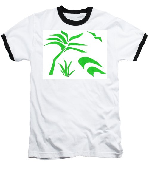 Baseball T-Shirt featuring the mixed media Beach by Delin Colon