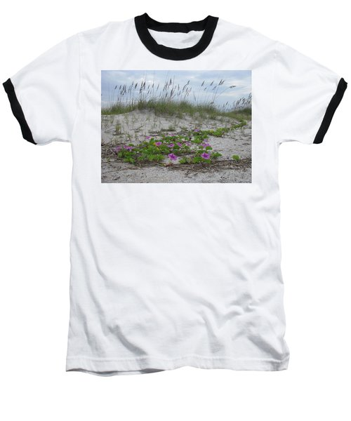 Beach Flowers Baseball T-Shirt