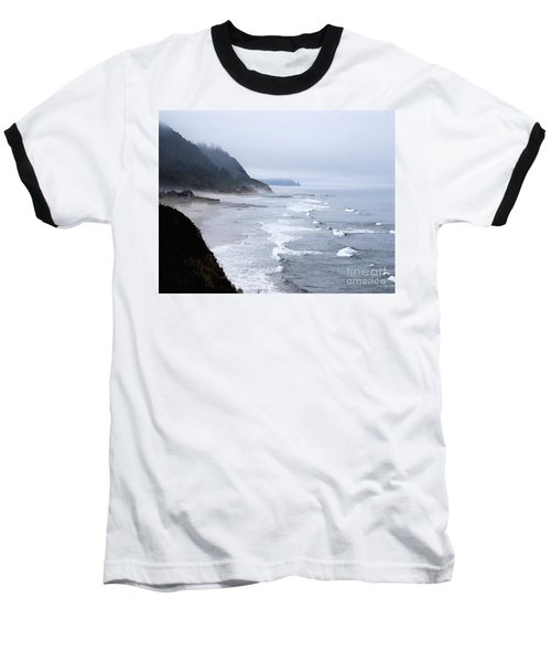 Beach Frontage In Monet Baseball T-Shirt by Sharon Elliott