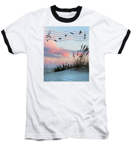 Beach Music Baseball T-Shirt by Deborah Smith
