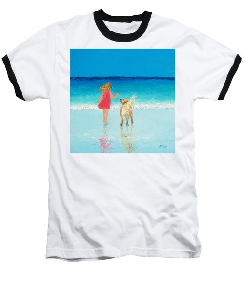 Beach Painting 'sunkissed Hair'  Baseball T-Shirt