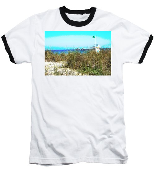 Beach Serenity Baseball T-Shirt