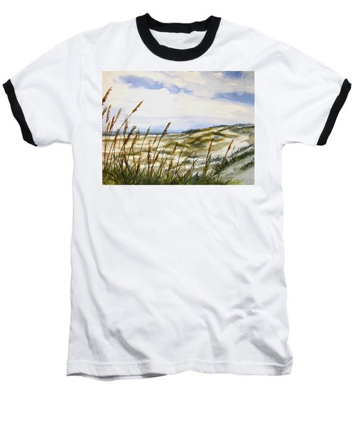Beach Watercolor 3-19-12 Julianne Felton Baseball T-Shirt