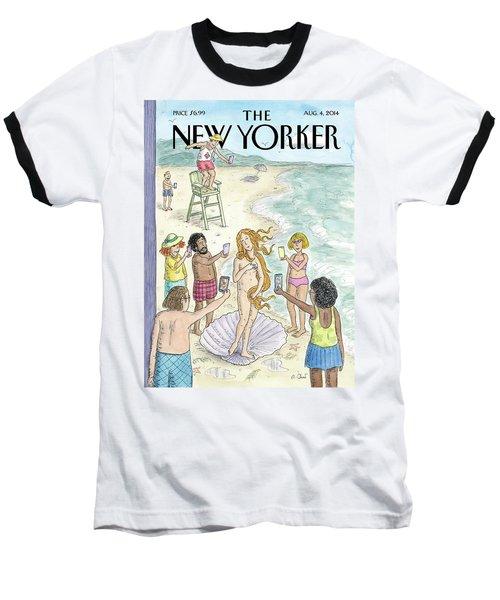 Venus On The Beach Baseball T-Shirt