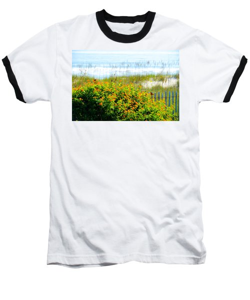 Beachy Butterflies  Baseball T-Shirt
