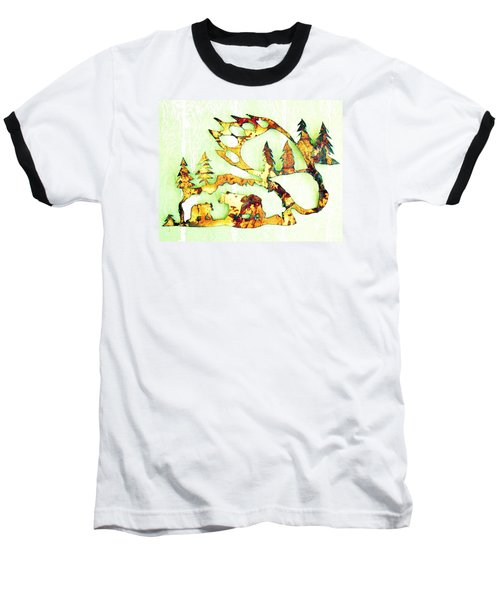 Baseball T-Shirt featuring the photograph Bear Track 8 by Larry Campbell