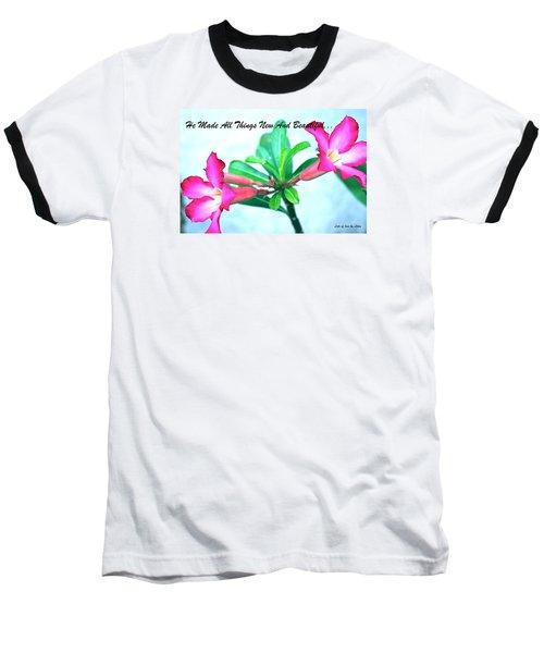 Beautiful Flower Baseball T-Shirt by Lorna Maza