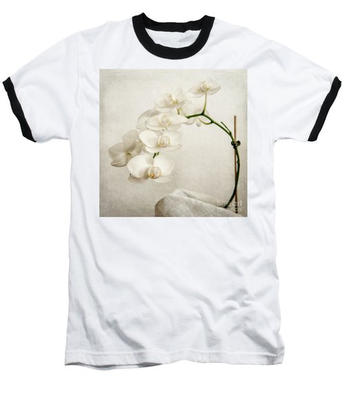 Beautiful White Orchid II Baseball T-Shirt