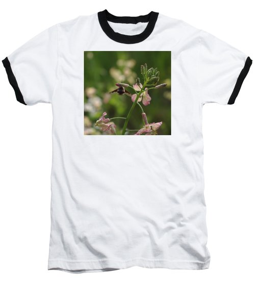 Baseball T-Shirt featuring the photograph Pink Mustard Flower by Adria Trail