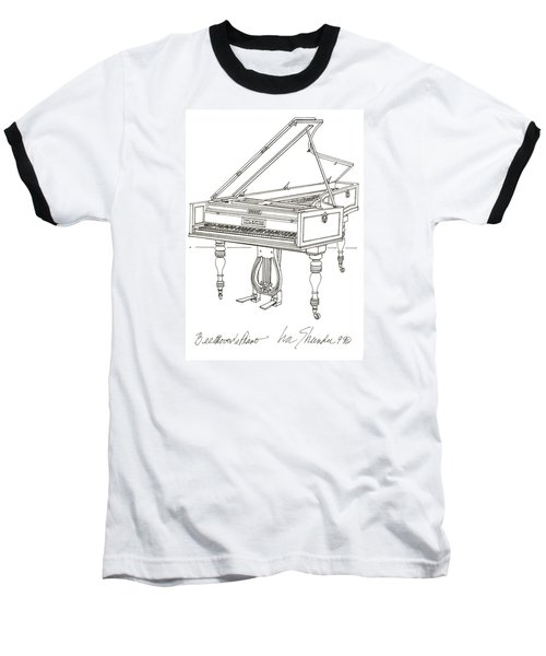 Beethoven's Broadwood Grand  Piano Baseball T-Shirt