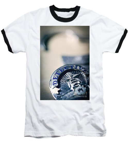 Baseball T-Shirt featuring the photograph Behind The Badge by Trish Mistric