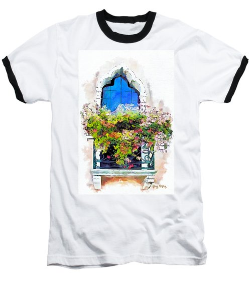 Baseball T-Shirt featuring the painting Bei Fiori by Greg Collins