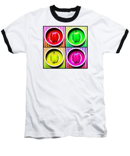 Baseball T-Shirt featuring the photograph Bell Pepper Rainbow by Shawna Rowe